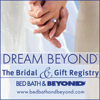 Our wedding for Bed and bath wedding registry